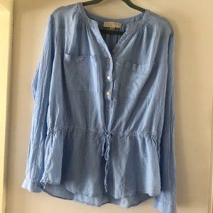 Michael Kors cinched waist blouse
